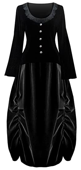 Victorian Costumes: Dresses, Saloon Girls, Southern Belle, Witch Victorian Valentine Steampunk Gothic Civil War Velvet Womens Top & Skirt                                                            Victorian Valentine Steampunk Gothic Civil War Velvet Womens Top & Skirt $109.00 AT vintagedancer.com