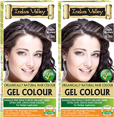 Indus Valley Organically Natural Permanent Herbal Hair Color Light Brown 5.0- Twin (Removing Permanent Hair Color)