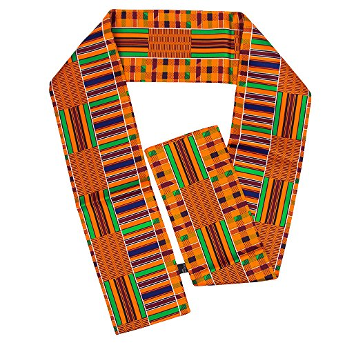 Beautiful Polyester Kente African Print Scarf