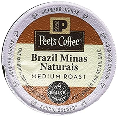 Peet's Coffee Brazil Minas Naturais Blend K-Cup, 10 Count (Pack of 6)