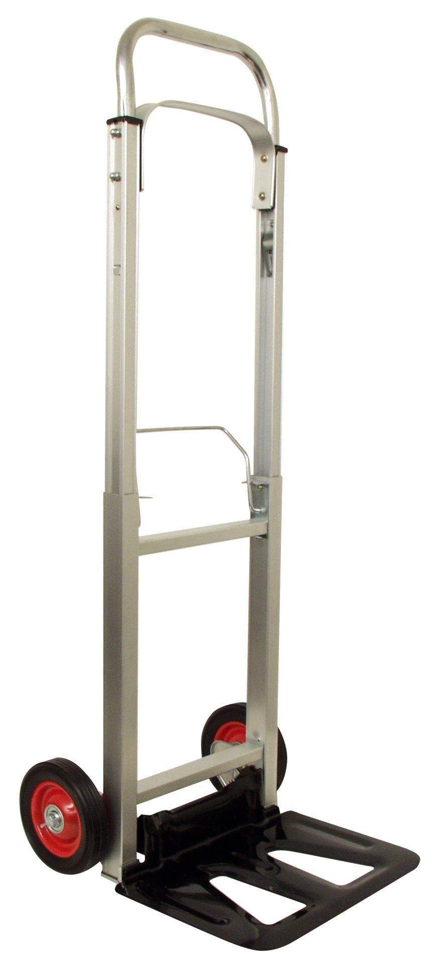 RWM Casters FW-95 Lightweight Folding Handi Cart, 220 Pound Capacity, 6'' Wheels, 43'' High Unfolded, 28.5'' High Collapsed