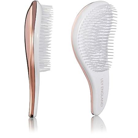 Set Duo de cepillos districanti Lily England. Las mejores Cepillos alisadores antinodi para el pelo Mojado, seco Rizos para Mujeres y niños.