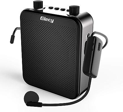 Giecy Amplificador de voz inalámbrico personal con micrófono UHF 30 W 2800 mAh amplificadores portátiles recargables para profesores cantando entrenadores Guía de viaje de entrenamiento: Amazon.es: Instrumentos musicales