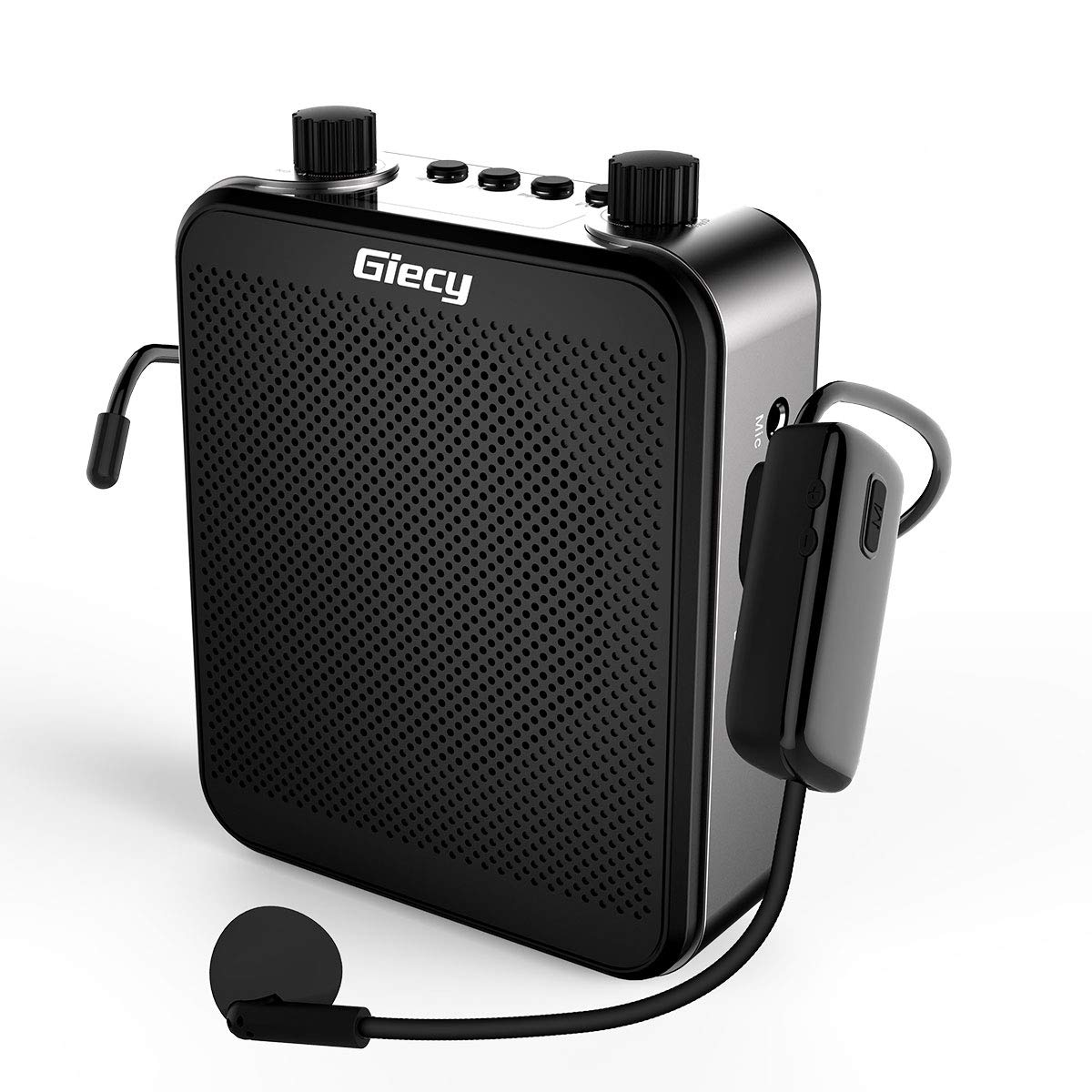 Giecy Voice Amplifier Wireless Personal with UHF Microphone Headset 30W 2800mAh Portable Amplifiers Rechargeable for Teachers Singing CoachesTraining Tour Guide by Giecy