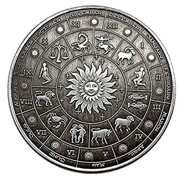 IVLWE 12 Constellation Commemorative Coins Aries//Taurus//Gemini//Cancer//Leo//Virgo//Libra//Scorpio//Sagittarius//Capricorn//Aquarius//Pisces Souvenir Arts Collection-1 PCS Virgo