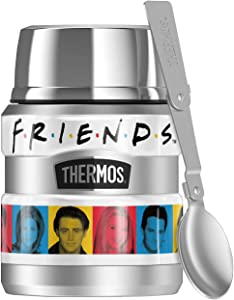 Friends Headshots THERMOS STAINLESS KING Stainless Steel Food Jar with Folding Spoon, Vacuum insulated & Double Wall, 16oz