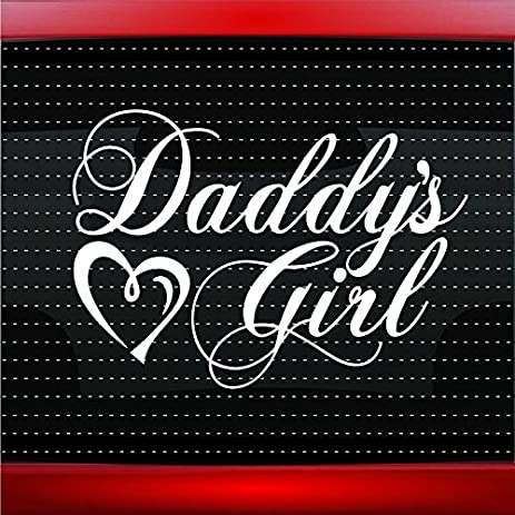 Daddys girl car sticker truck window vinyl decal baby blue