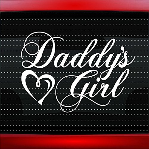 Daddy's Girl Car Sticker Truck Window Vinyl Decal White