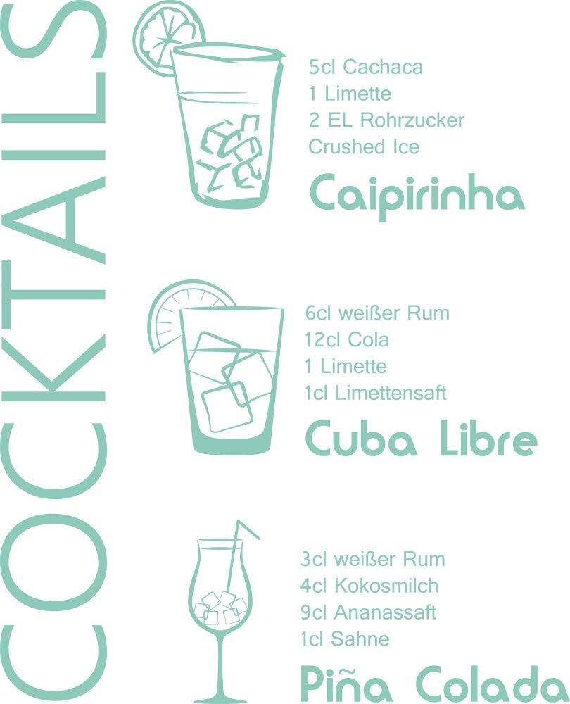 GRAZDesign 300022_30_WT055 Wandtattoo Küche Rezept Cocktails ...
