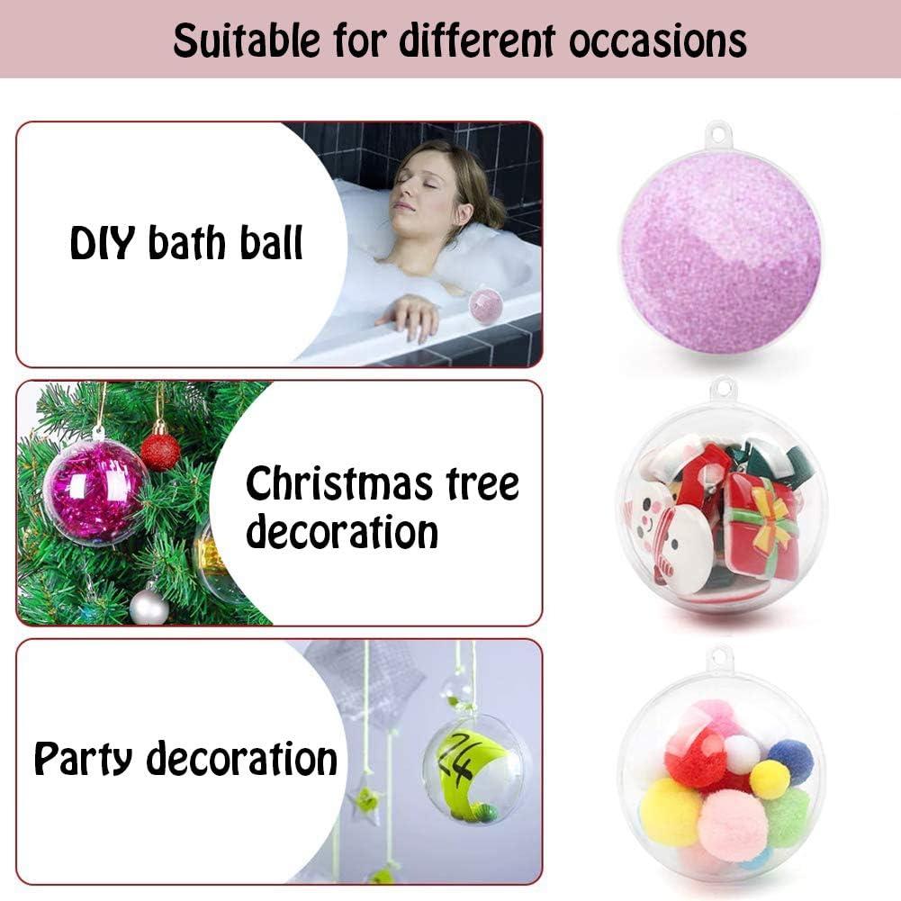 SUNSK Transparent Christmas Ball Acrylic Plastic Fillable Balls DIY Ornaments 5cm Christmas Tree Baubles Balls for Xmas Tree Wedding Party Decor 20 Pcs