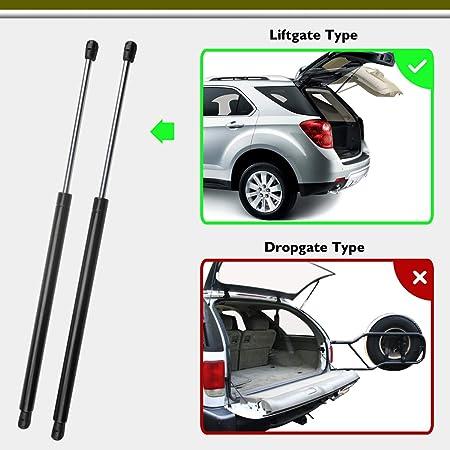 MYSMOT 2Pcs Rear Glass Window Lift Supports Struts Shocks Compatible with 1995-2005 Chevrolet Blazer 2-Door With Dropgate Only 1995-2001 GMC Jimmy SG330019 1997-2001 Oldsmobile Bravada 15678975
