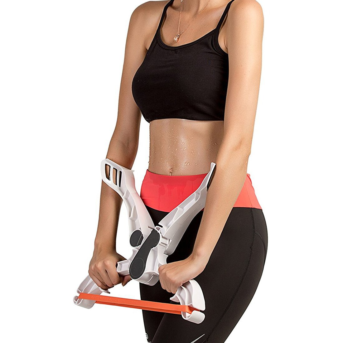 LYUS Arm Exerciser Workout Machine, Upper Arm Training Exerciser Force Strength Fitness Equipment with System 3 Resistance Training Bands for Women by LYUS
