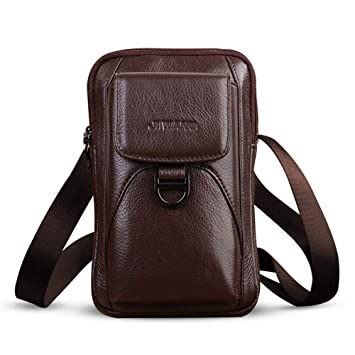 efe5c1ca04 Image Unavailable. Vertical Genuine Leather Belt Bag, FOONEE Soft Cellphone  Holster Waist Pouch ...