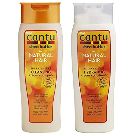 Cantu Shea Butter for Natural Hair Shampoo and Conditioner SULFATE FREE by Cantu