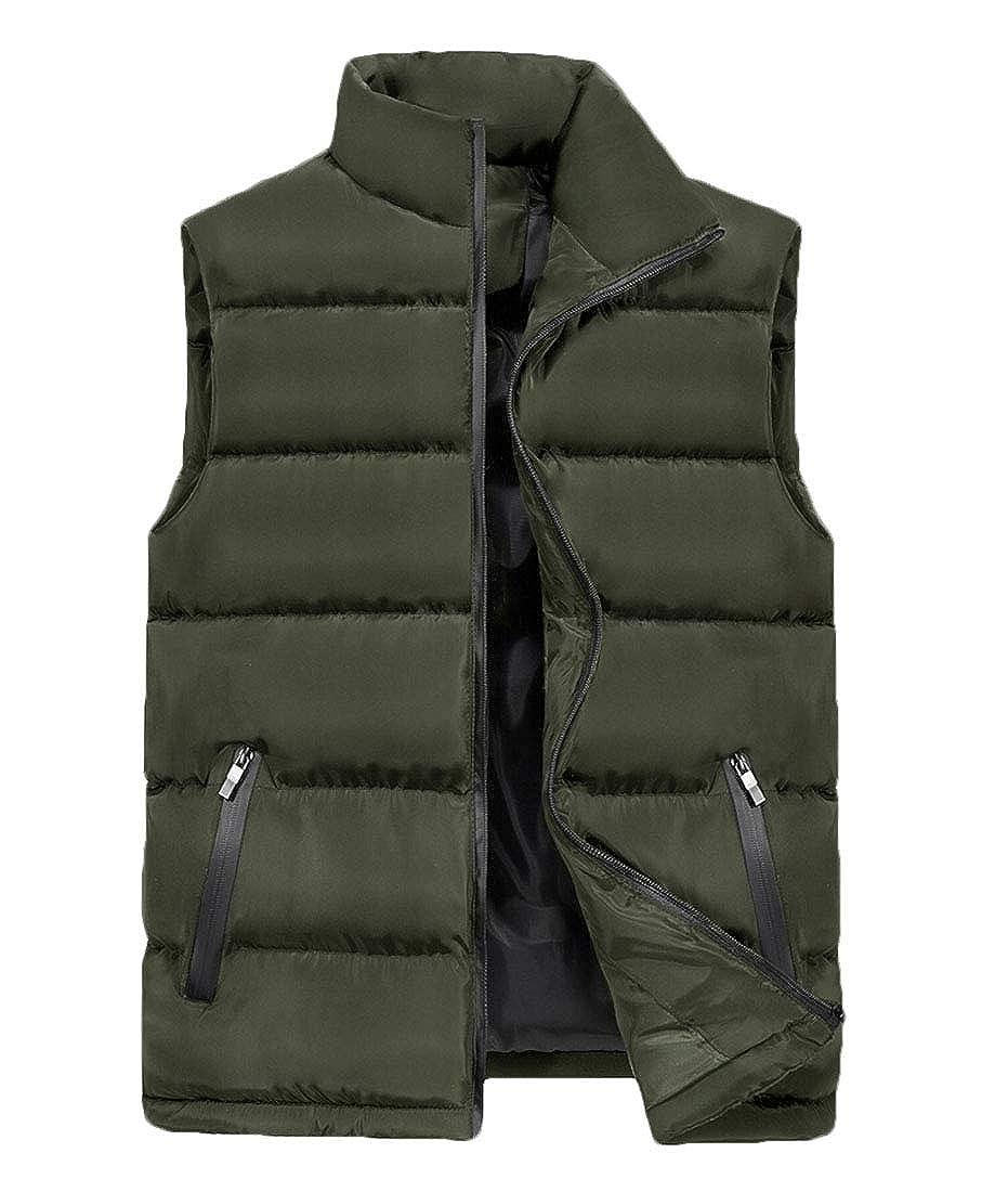 yibiyuan Mens Down Vest Warm Sleeveless Down Coats Packable Travel Light Weight Cotton Linen Outwear