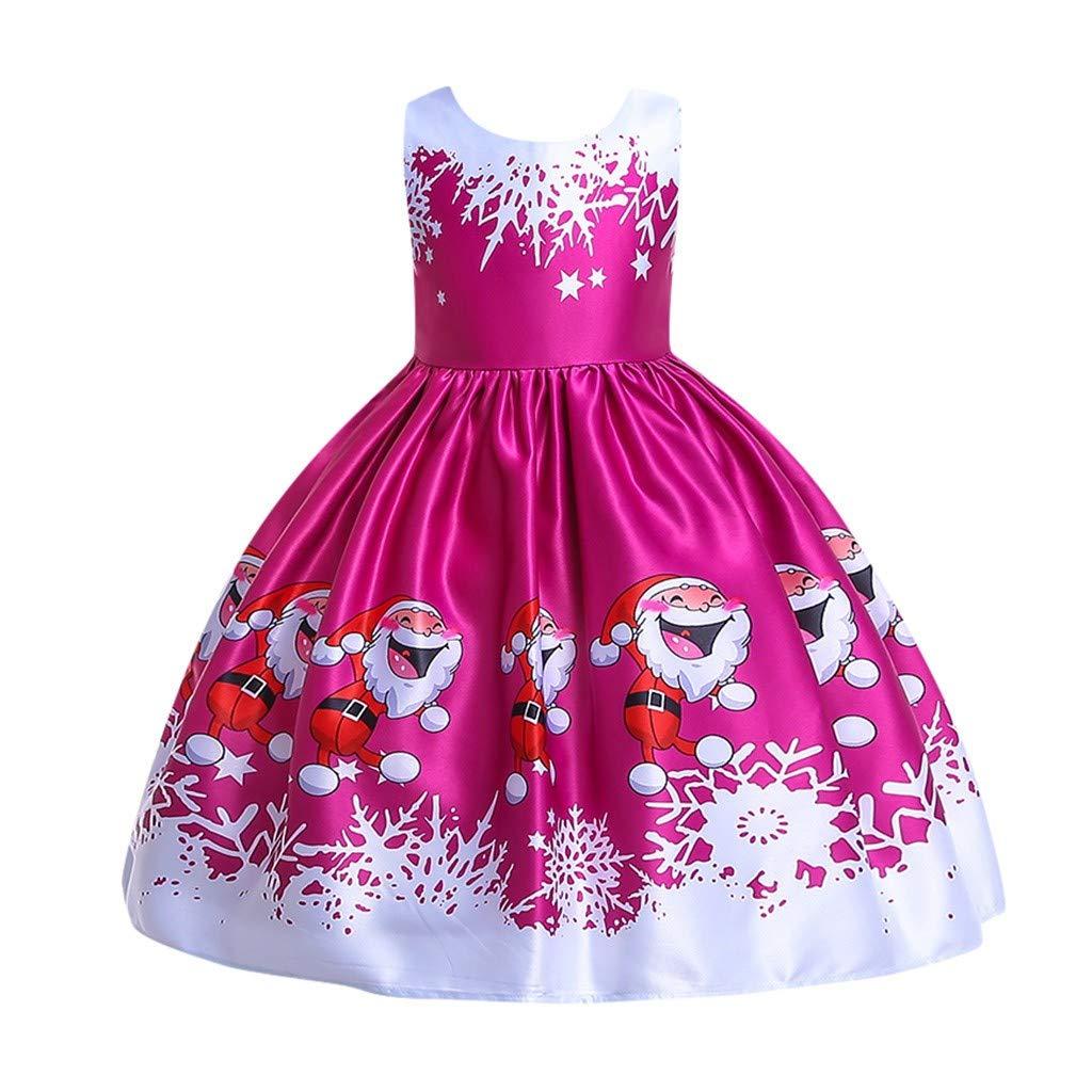 Riou Weihnachtskleid Mädchen Lange Elegant One Shoulder ...