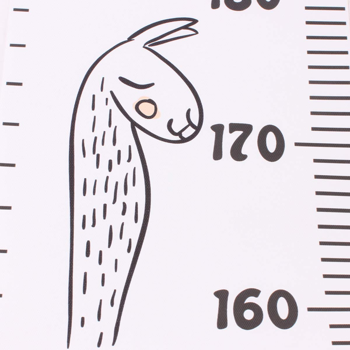 Owlike Height Ruler Removable Baby Growth Chart Waterproof Canvas Handing Ruler Wall Decor for Kids