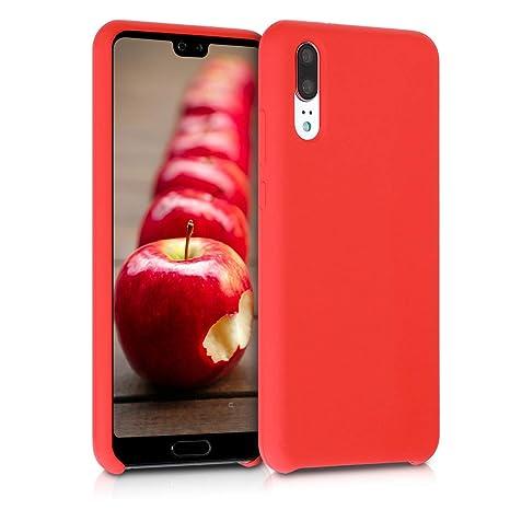 kwmobile Funda para Huawei P20 - Carcasa de [TPU] para teléfono móvil - Cover [Trasero] en [Rojo Mate]