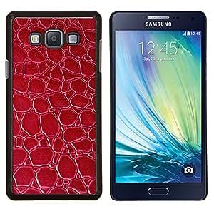 EJOOY---Cubierta de la caja de protección para la piel dura ** Samsung Galaxy A7 A7000 ** --Textura Rojo Material Modelo del papel pintado