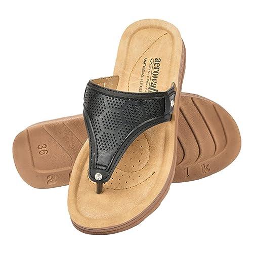 c1ad176362c35 AEROWALK low heel flat sandal for ladies - colour variant Black Brown red  and Tan - stylish ladies slippers - low heel sandal for women - Ladies  slipper ...