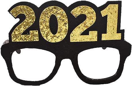Amazon.com: PRETYZOOM 2021 New Years Eve Party Glasses Funny Party Eyeglass Eyewear Novelty ...