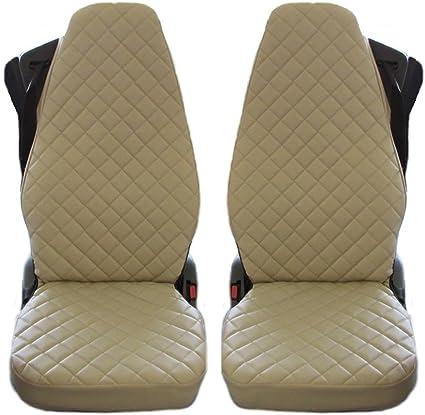 Texmar Ltd Lkw Sitzbezüge Für Fh4 Fh12 Fh16 Eco Leder Beige 2 Stück Auto