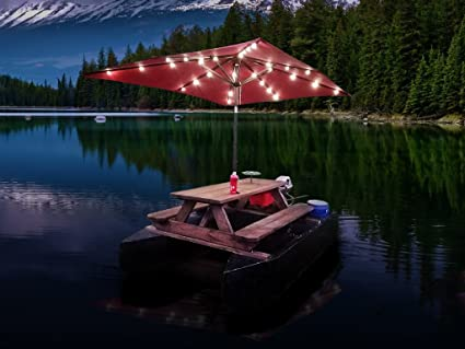 Amazon floating picnic table plans diy motorized pontoon boat floating picnic table plans diy motorized pontoon boat with sun umbrella shelter watchthetrailerfo