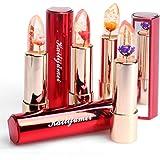 Kailijumei Flower Jelly Lipstick, 4-Pack Moisturizer Lipsticks With a Flower Inside Temperature Change Lip Balm Sold By htgtai