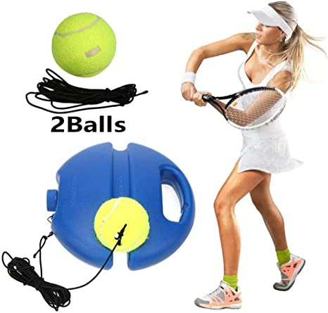 Tennis Ball Trainer Solo Tennis Trainer Rebound Ball Tennis Trainer Rebound Baseboard Tennis Ball Training Tool Training Gear For Kids Player Beginner Amazon Co Uk Sports Outdoors