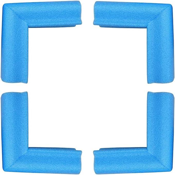 protectores de esquina o borde tambi/én protecci/ón de seguridad para beb/és Marco de fotos de espejo mediano: 15 /– 25 mm Talla:4pcs espuma de polietileno azul