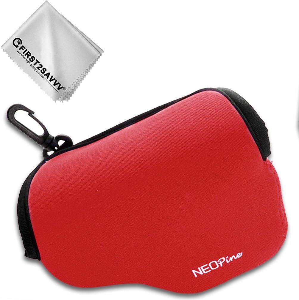First2savvv Negro Funda C/ámara Reflex Neopreno Protectora para Panasonic Lumix DMC-LX100 Pa/ño de Limpieza QSL-LX100-01G11