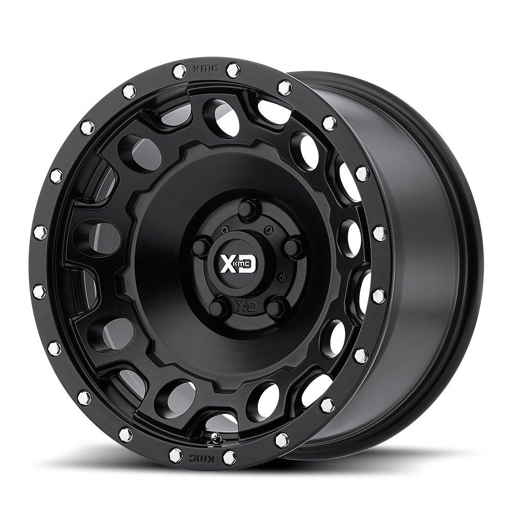 XD Series by KMC Wheels XD129 Holeshot Satin Black Wheel (18x9''/8x165.1mm, +18mm offset)