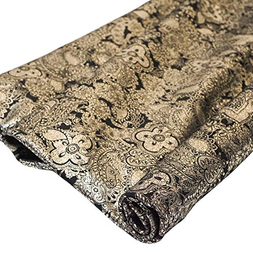 Springfield Leather Company Love Heart Paisley/Platinum Suede Cowhide Leather (by The Square -