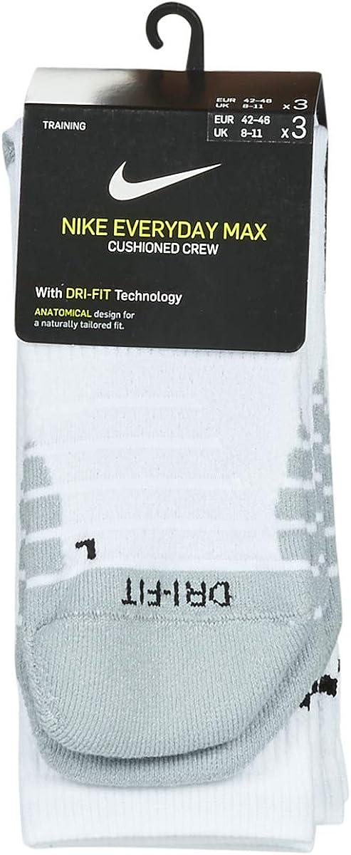 Nike Unisex U Nk Everyday Max Cush Crew 3pr Socks
