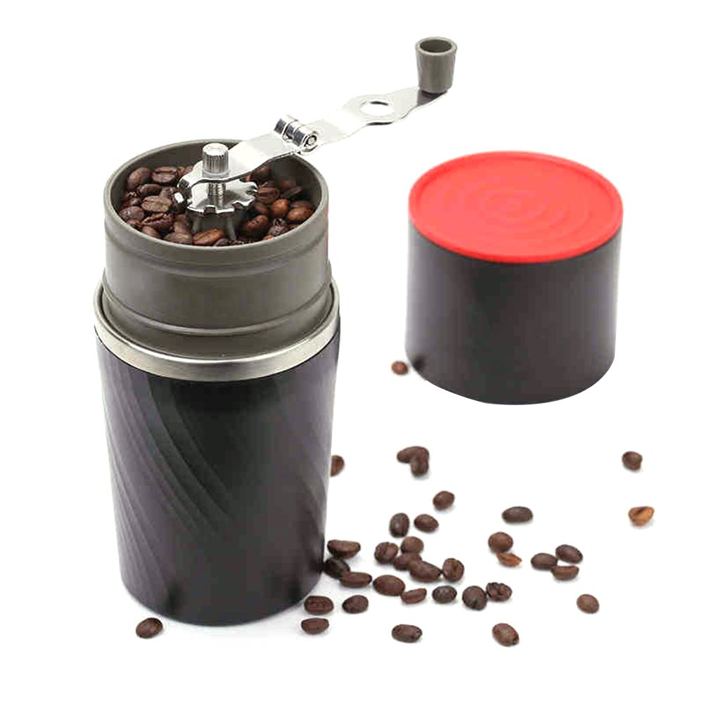 Portable 4-in-1 Stainless Steel Hand-operated Coffee Bean Grinder Coffee Mill by Alician
