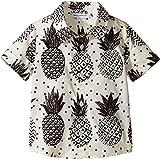 Dolce & Gabbana Kids Baby Boy's Pineapple Button Down (Infant) White Print Button-up Shirt