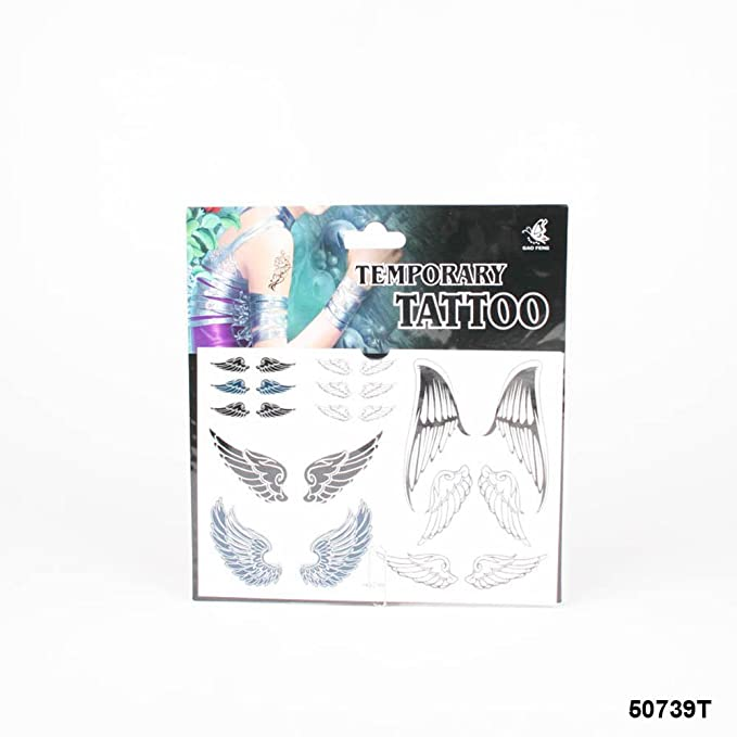 Tatuajes con ángel alas en diferentes modelos: Amazon.es: Salud y ...