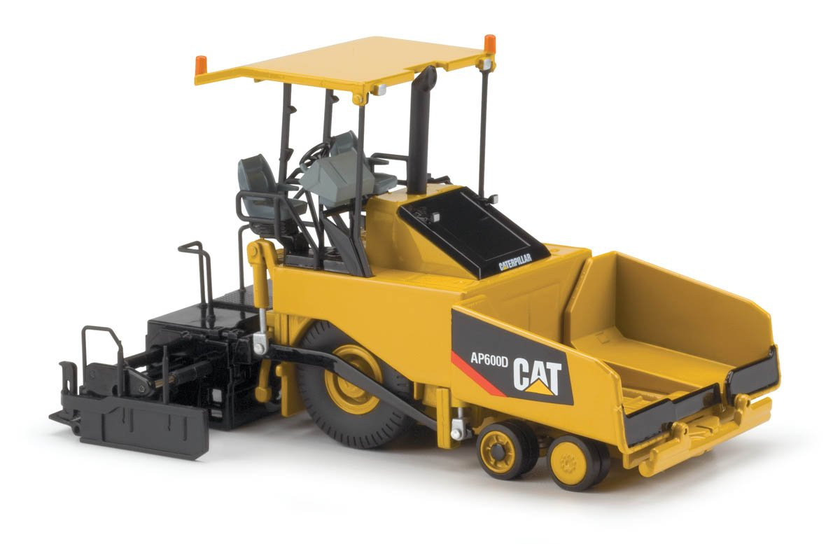 Norscot Cat AP600D Asphalt Paver with Canopy (1:50 Scale), Caterpillar Yellow