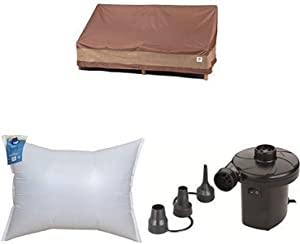 Duck Covers Ultimate Patio Loveseat Cover, 62-Inch with Duck Dome Airbag, 48