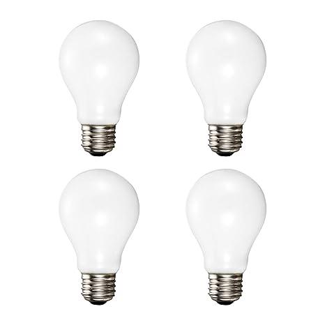 A19 Soft White Halogen Light Bulb 29 Watt 40w Equivalent 2700k Soft White E26 Medium Base 360 Lumens 120v 4 Pack