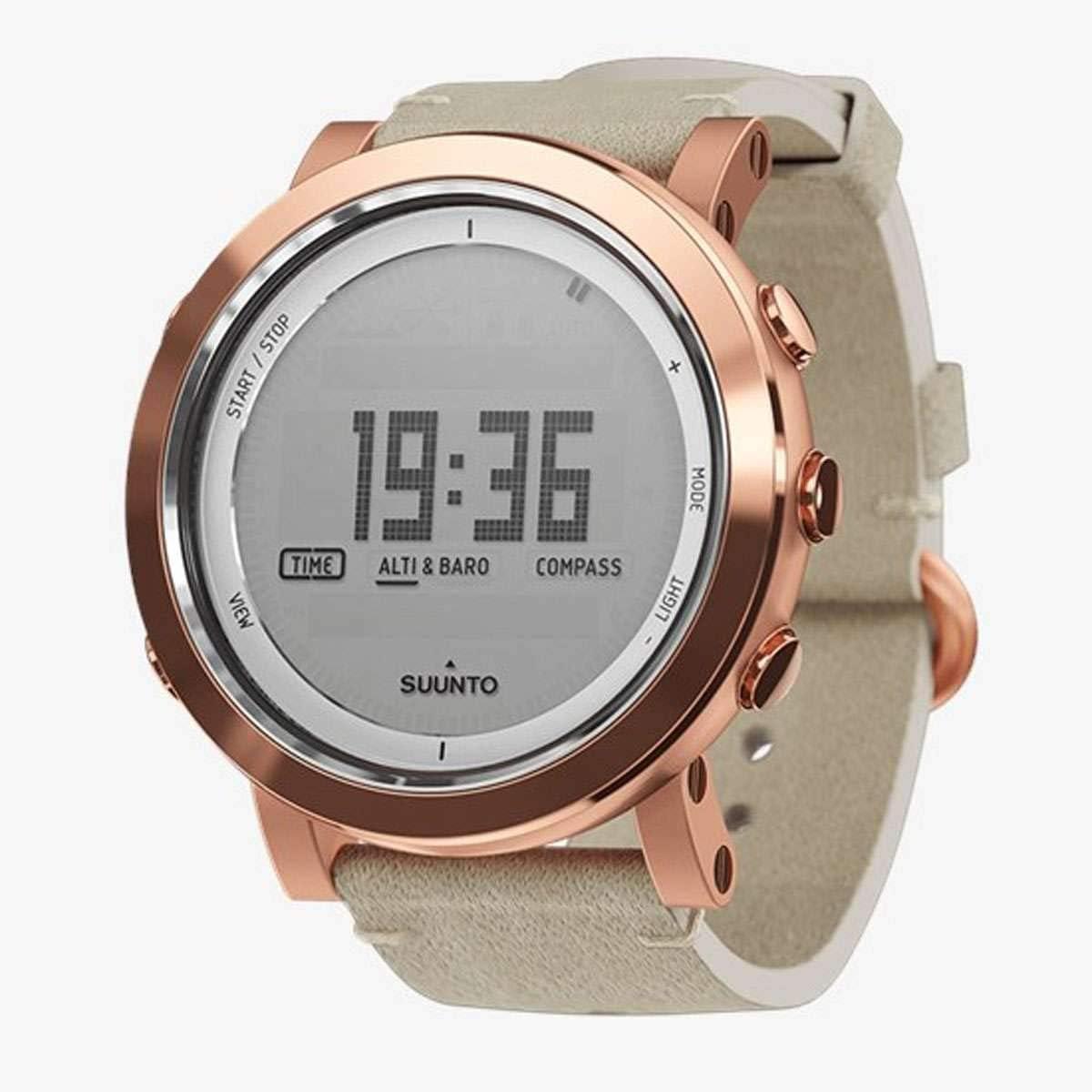Watch Suunto Essential Ceramic COPPER - Leather Strap, Sapphire Glass, Altimeter Barometer Compass