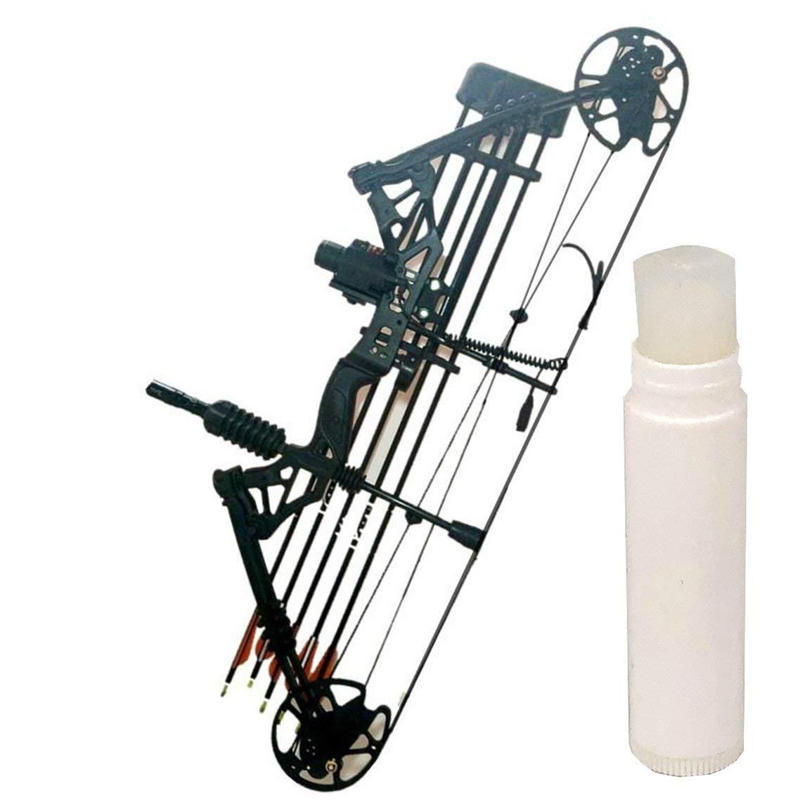 10g Tiro con arco Arco Cuerda Cera Mantenimiento Cera Proteger Cuerda de cera Cera para ballesta Arco recurvo compuesto para aumentar la durabilidad Blanco