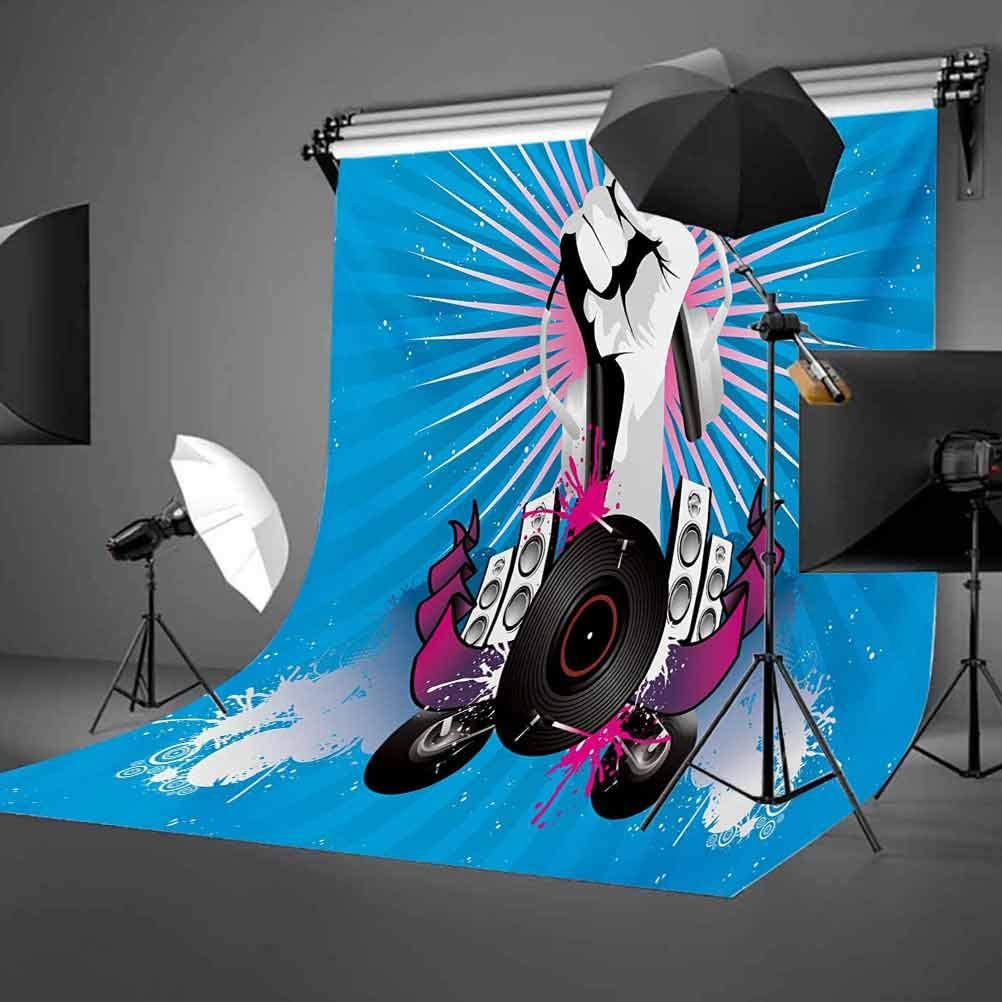 18th Birthday 8x10 FT Backdrop Photographers,Sweet Eighteen Party Cake with Candles and Cherries Sprinkle Vibrant Photo Background for Baby Shower Bridal Wedding Studio Photography Pictures Multicolo