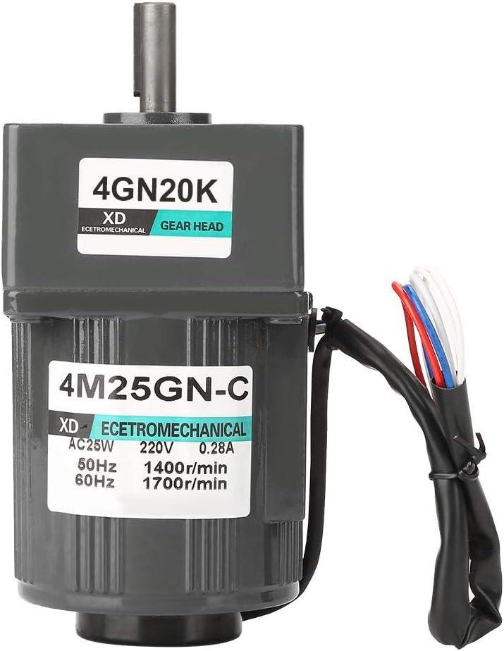 4/M25gn-c 220/V AC 25/W monophas/é engrenages r/églable Speed CW//CCW Par/é de r/éduction de vitesse Moteur