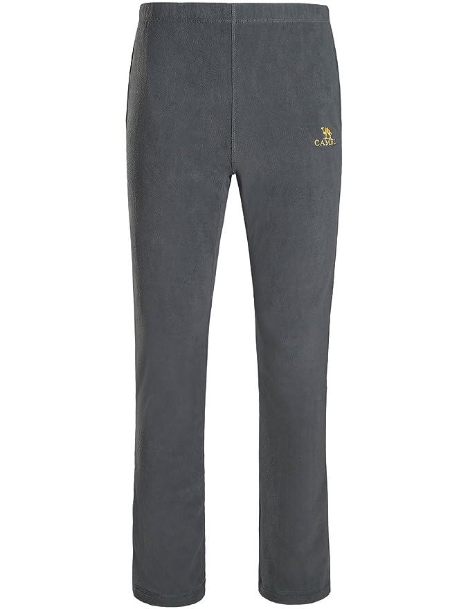 CAMEL CROWN Pantalones de Forro Polar para Hombres Pantalones con Alto Elástico Cinturón Largos Pantalones Deportivos con Bolsillos para Gimnasio, ...