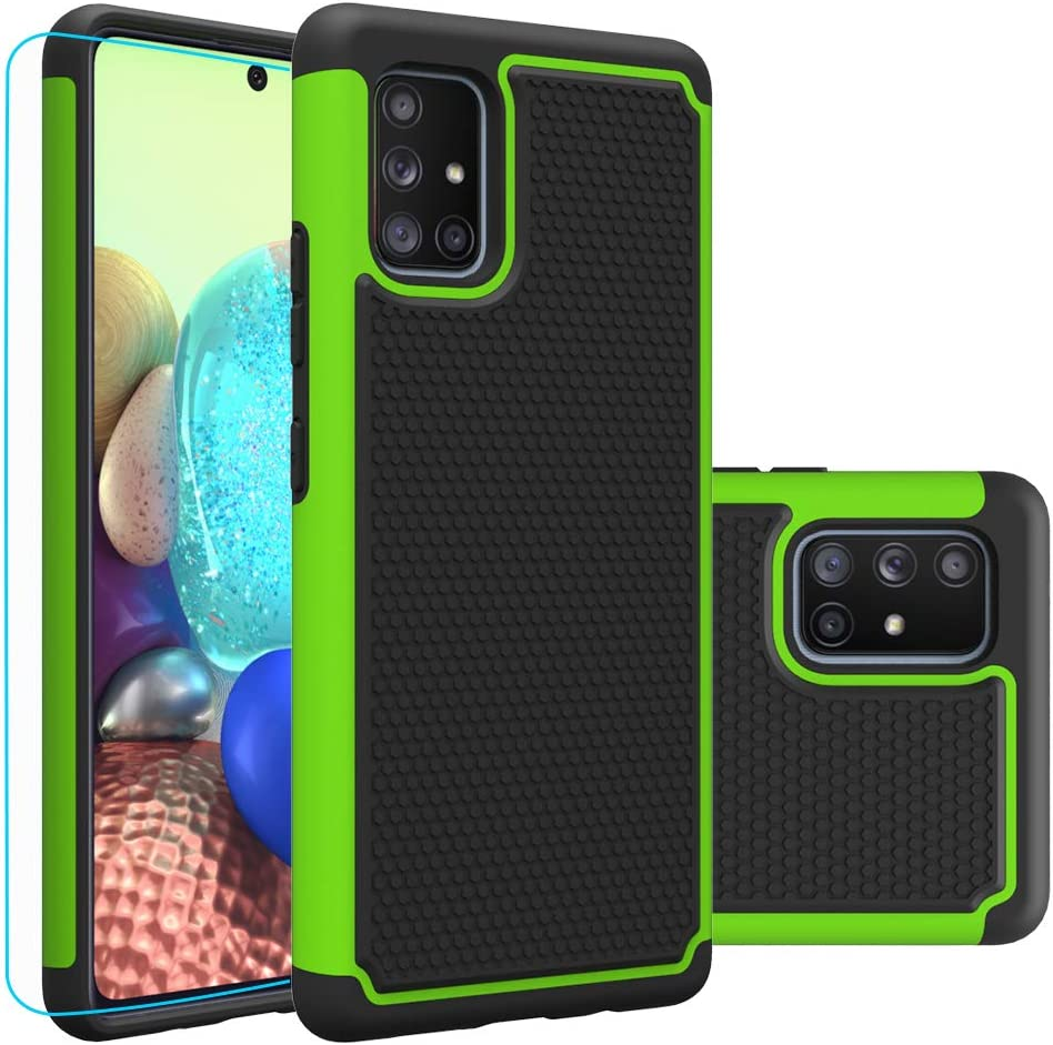 Amazon Com Galaxy A71 5g Case Not Fit A71 5g Uw Verizon With Hd Screen Protector Giner Dual Layer Heavy Duty Military Grade Armor Defender Protective Phone Case Cover For Samsung Galaxy A71 5g Green Armor Electronics