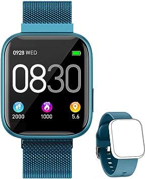 BANLVS Smartwatch, 1.4 Inch Reloj Inteligente IP67 con Pulsómetro Presión Arterial, Monitor de Sueño Podómetro Contador de Caloría, Smartwatch Reloj Inteligente Deporte para Hombre Mujer: Amazon.es: Electrónica