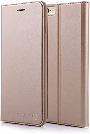 NOUSKE Funda Tipo Cartera para iPhone 6 y 6S de 4,7 Pulgadas de Apple, Dorada: Amazon.es: Electrónica