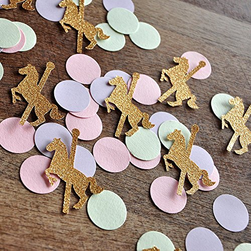 Carousel Horse Party Decorations. Merry-Go-Round Horse Confetti 2 Packs (50CT each).