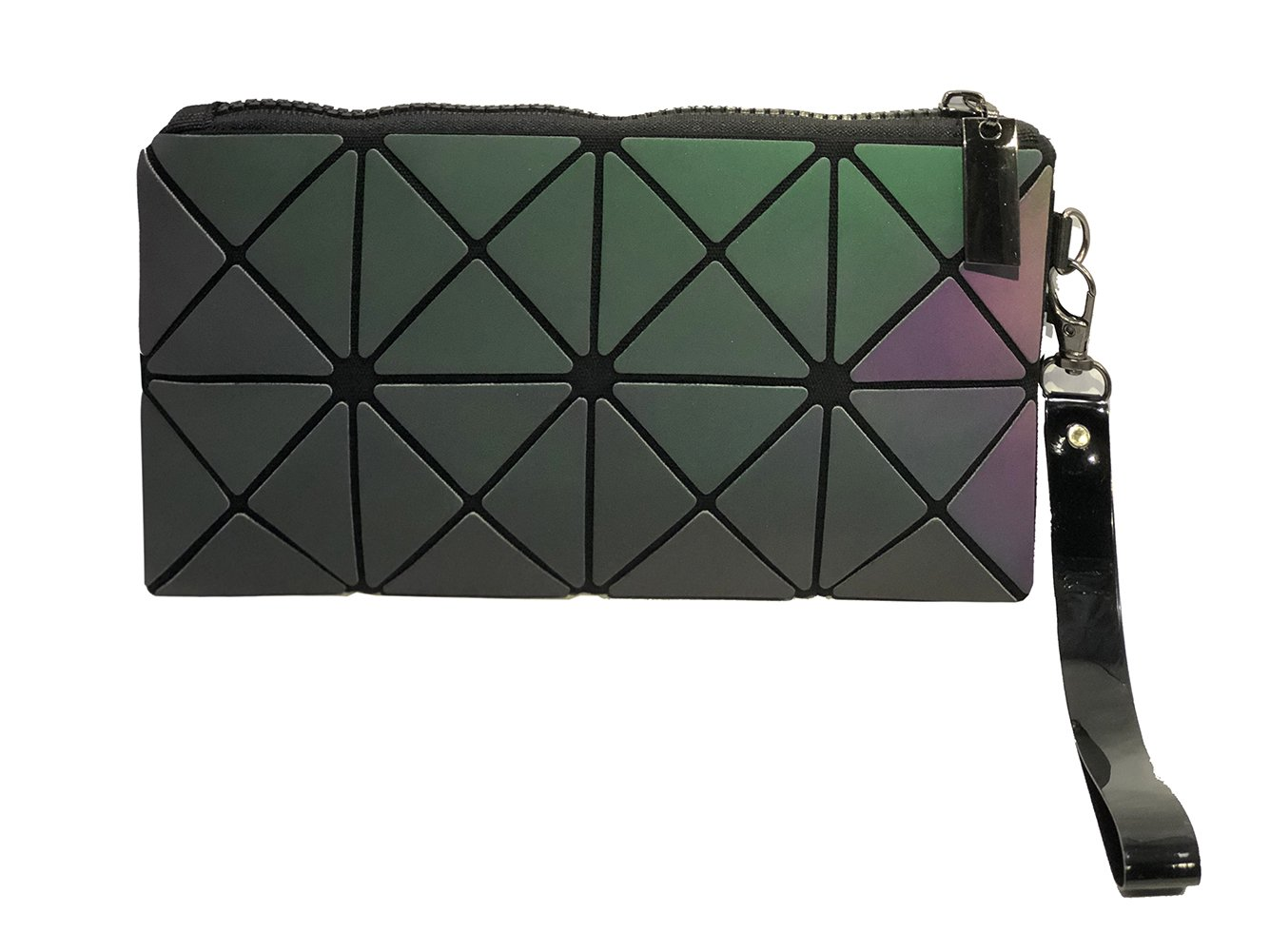 Geometric Design Clutch Purses,Fashion Women's Simple Geometric Holographic Evening Purse or Cosmetic Wristlet Handbag,Makeup Pouch,Phone Bag by Ms Story